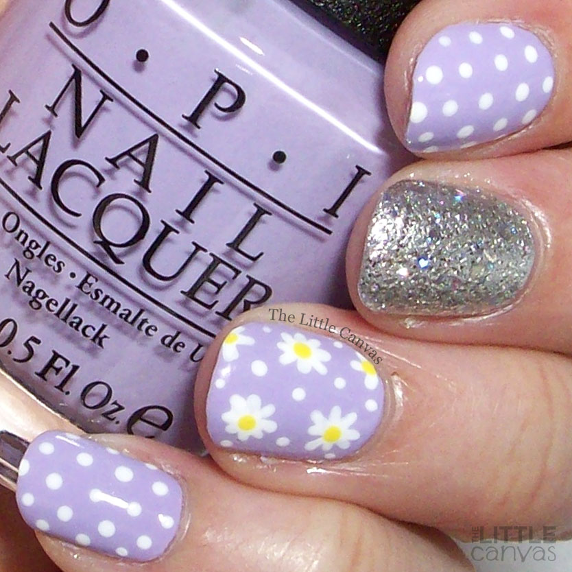 The One With OPI Polly Want a Lacquer? and Daisies - The Little Canvas