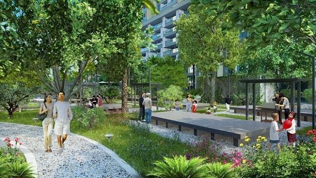 Không gian xanh tại dự án Royal Land.