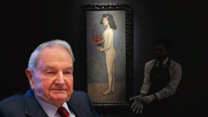 David Rockefeller collects Child Sex art, just sold a Picasso canvas for $115 million. Is he a pedophile?
