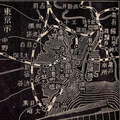 02 明治38年(1905)大日本汽車線路略図 東京市