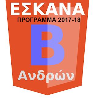 Η κλήρωση της Β΄ ανδρών 2017-18