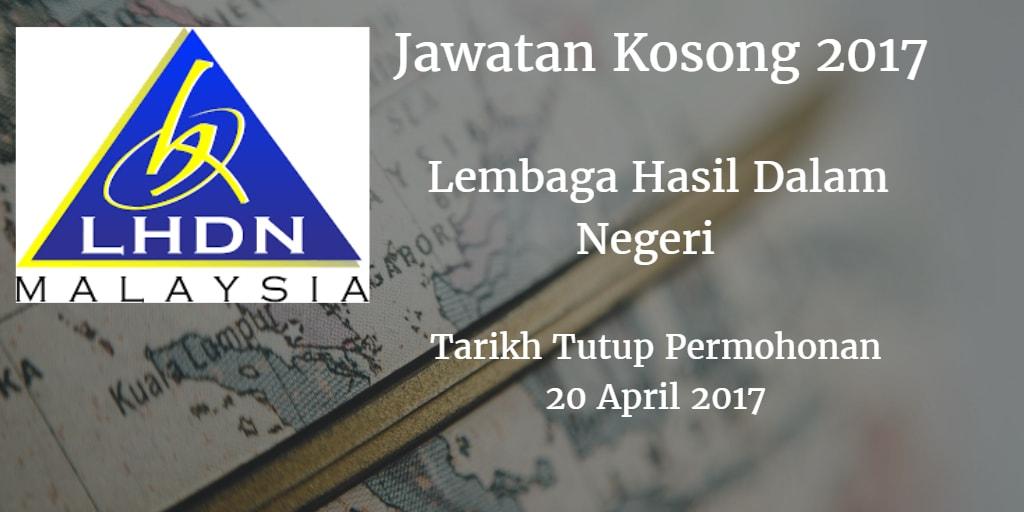 Jawatan Kosong LHDN 20 April 2017