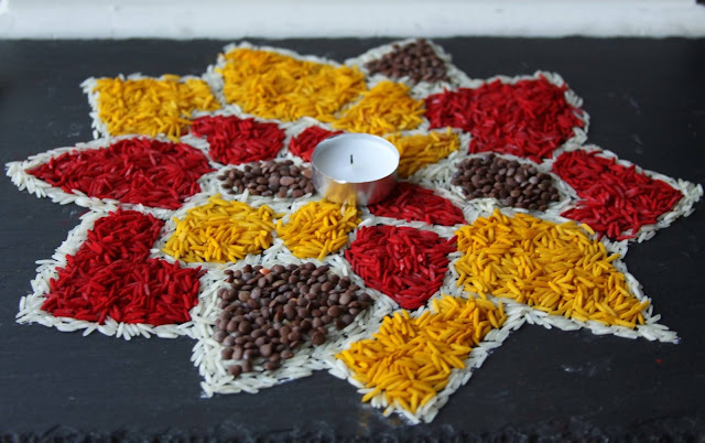 Simple Rangoli for Diwali 10