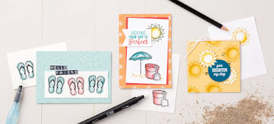 7 Card Ideas with Stampin' Up! Day at the Beach Stamp Set 2017 Occasions Catalog