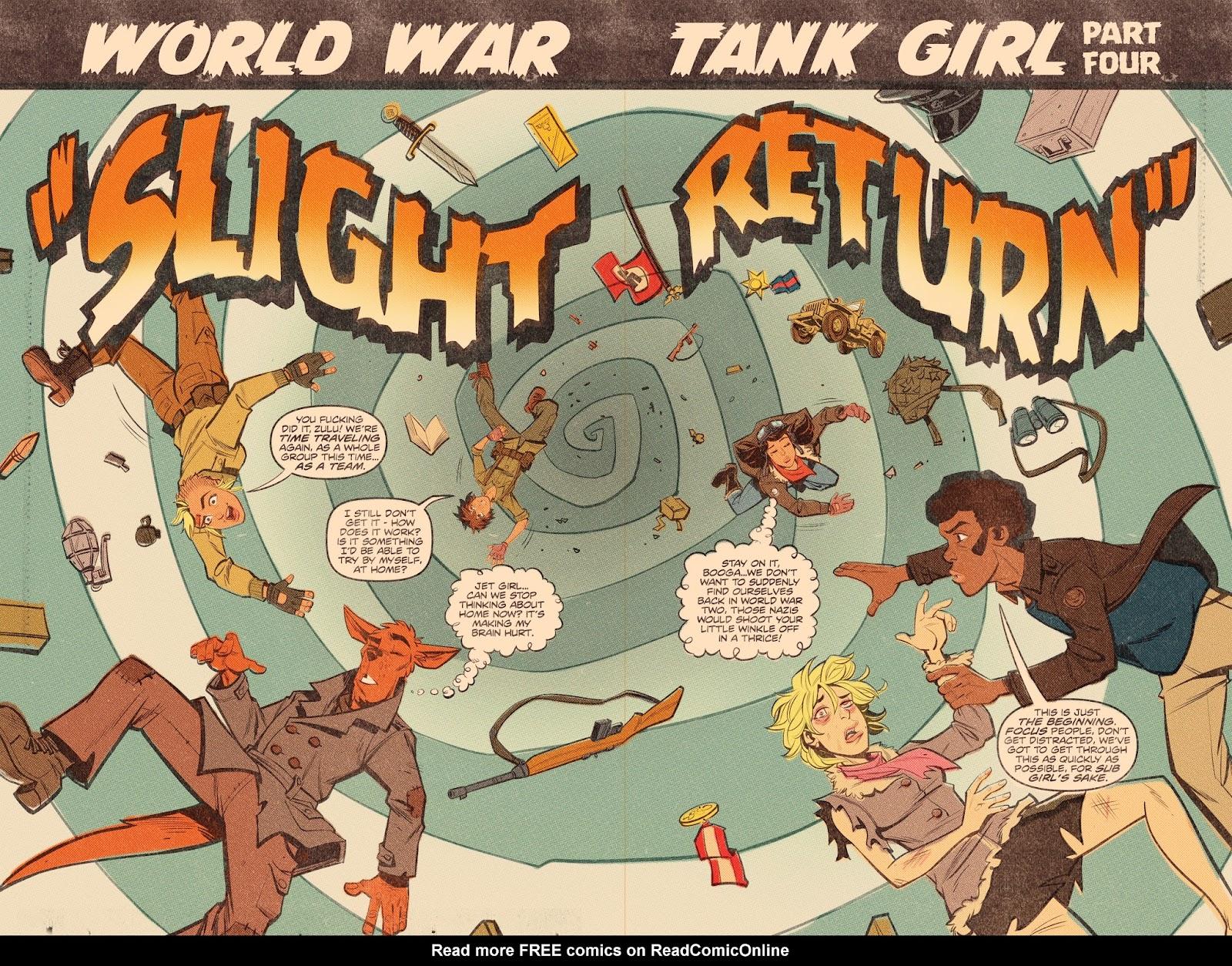 Read online Tank Girl: World War Tank Girl comic -  Issue #4 - 6