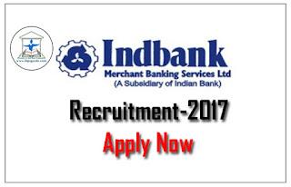 IndBank Recruitment 2017- Apply Now