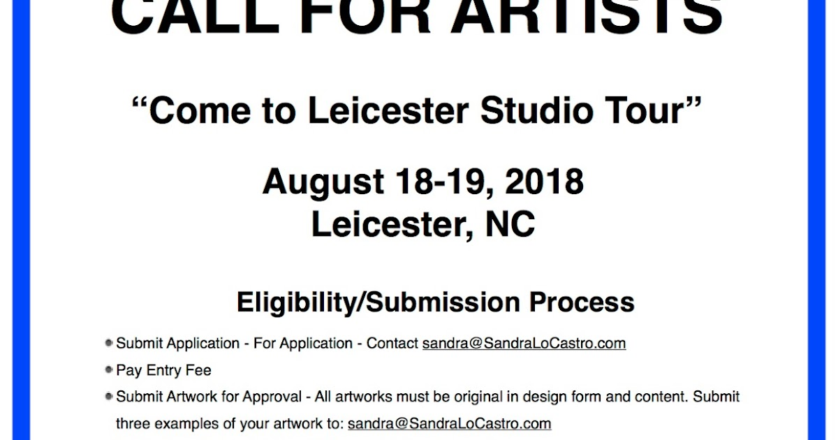 Call to artists for the Come to Leicester Studio Tour