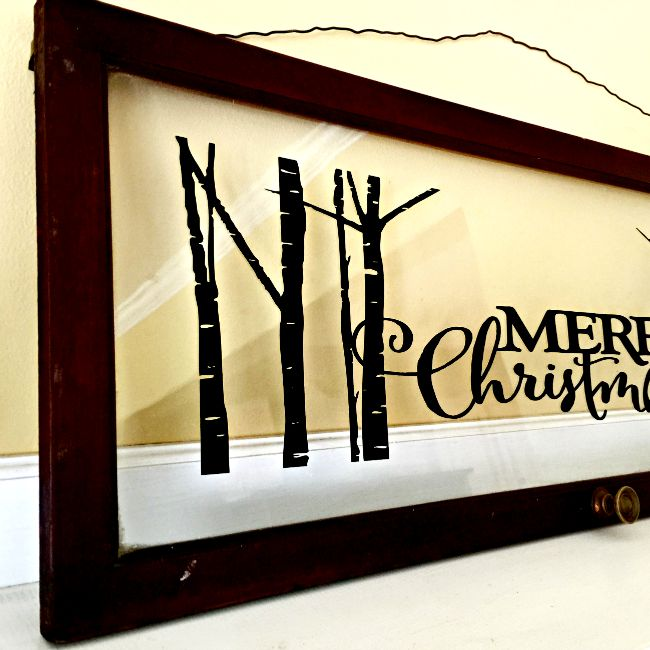 Repurposed Christmas window art and other blog hop Christmas Favorites