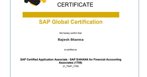 SAP TAO - Expert Intelligent IT Services: Successfully passed