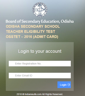 OSSTET Admit Card