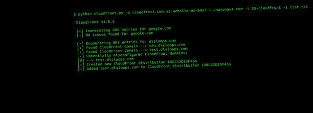 CloudFrunt - Identifikasi Domain CloudFront yang Salah dikonfigurasi