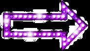 Seta luz roxo