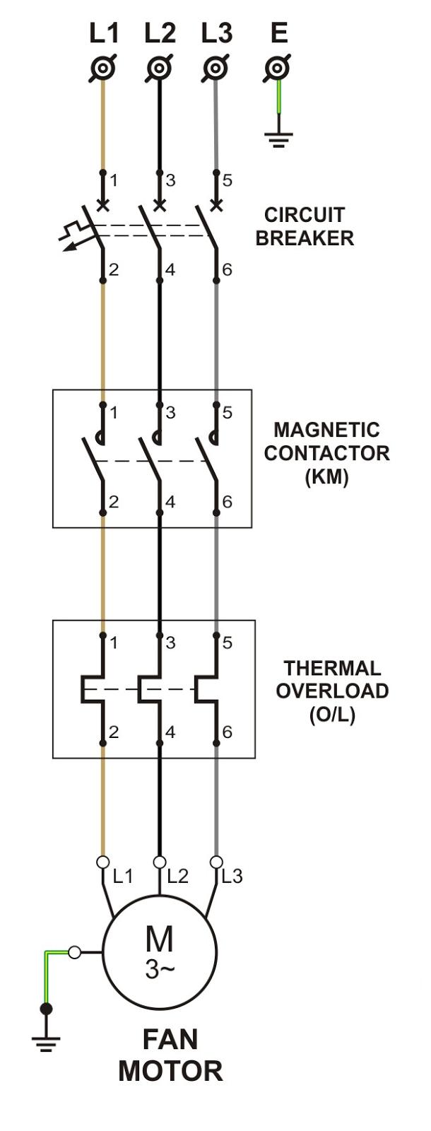 medium resolution of power circuit of dol starter