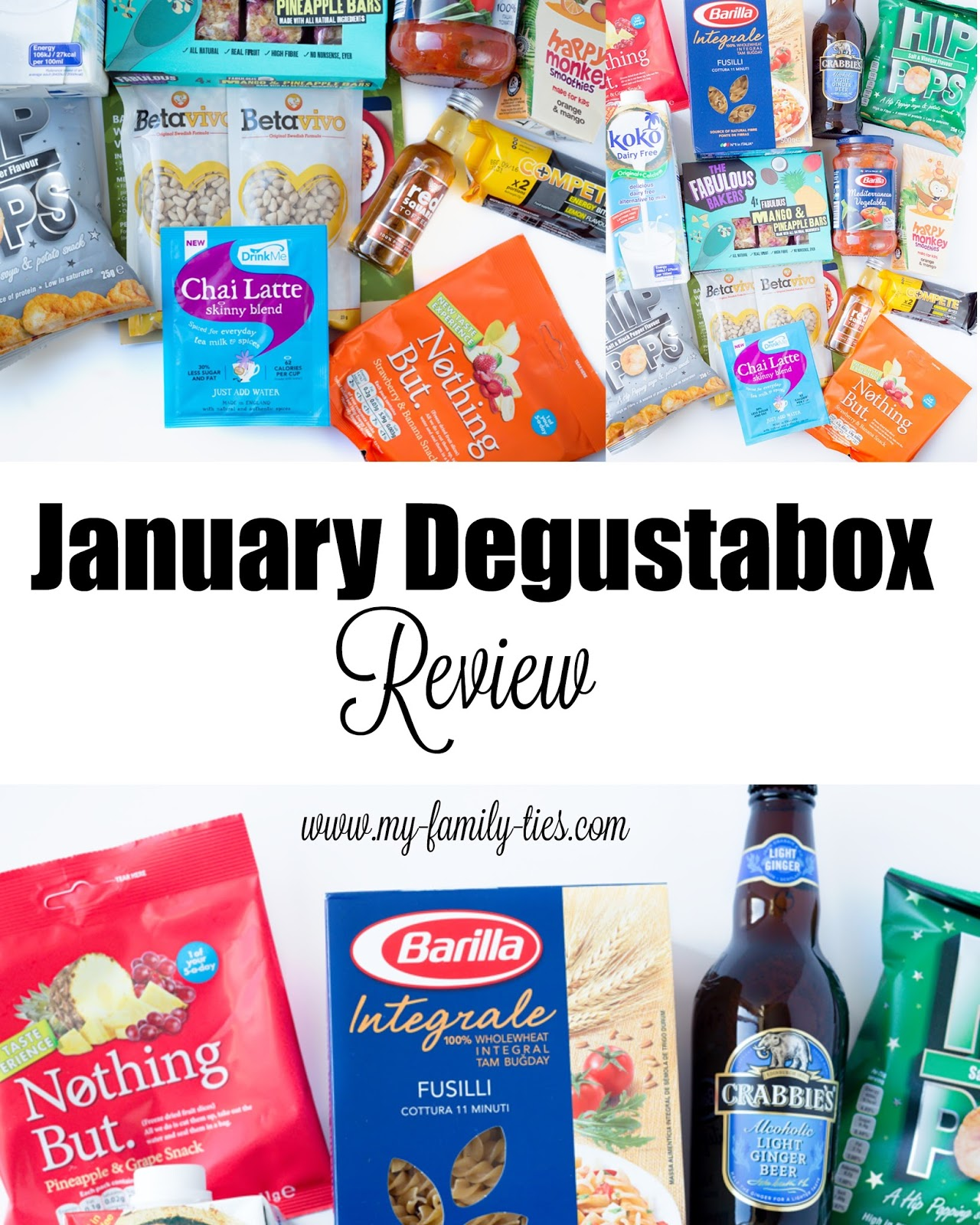 January Degustabox Review Photos By My Family Ties Blog www.my-family-ties.com