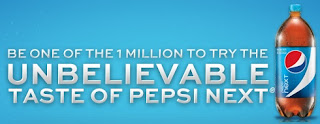 Be one of the 1 million to try the unbelievable taste of Pepsi Next
