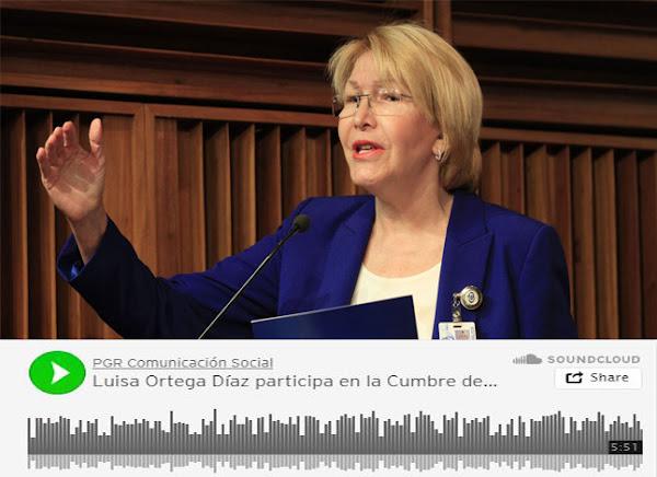 Luisa Ortega Díaz denuncia a Maduro desde México en una cumbre de Fiscales
