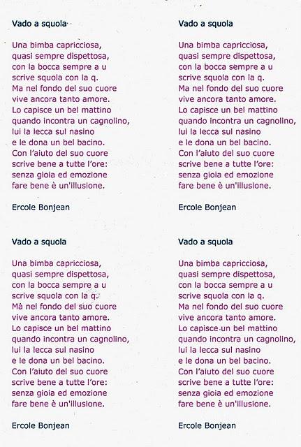Top FILASTROCCA CAPRICCIOSA di Ercole Bonjean (rima baciata) SG79