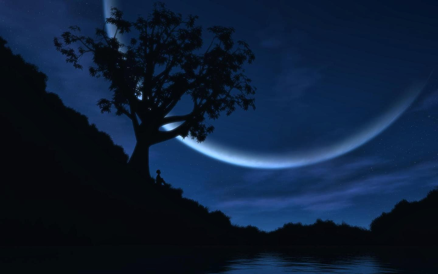 Cool 3D Beautiful Night Sky Wallpapers Free Download 2014