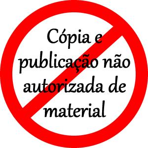 Cópia e publicação não autorizada de material
