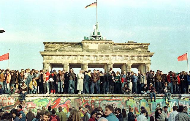 Queda do Muro de Berlim em 1989