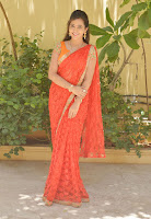 Lasya Saree Photos at Raja Meeru Keka Promotion TollywoodBlog