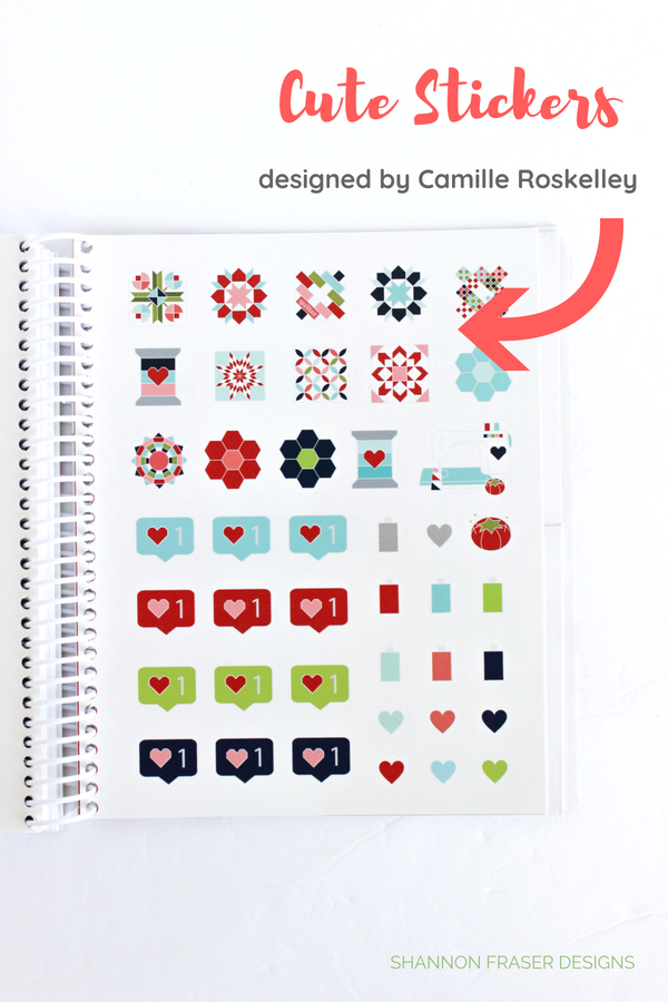 Cute stickers | The 2019 Quilter's Planner Review + Giveaway | Shannon Fraser Designs