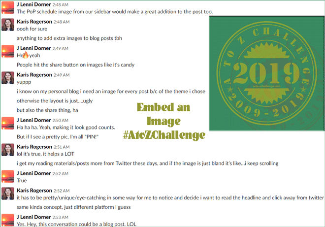 Embed an Image #AtoZChallenge #BlogTip
