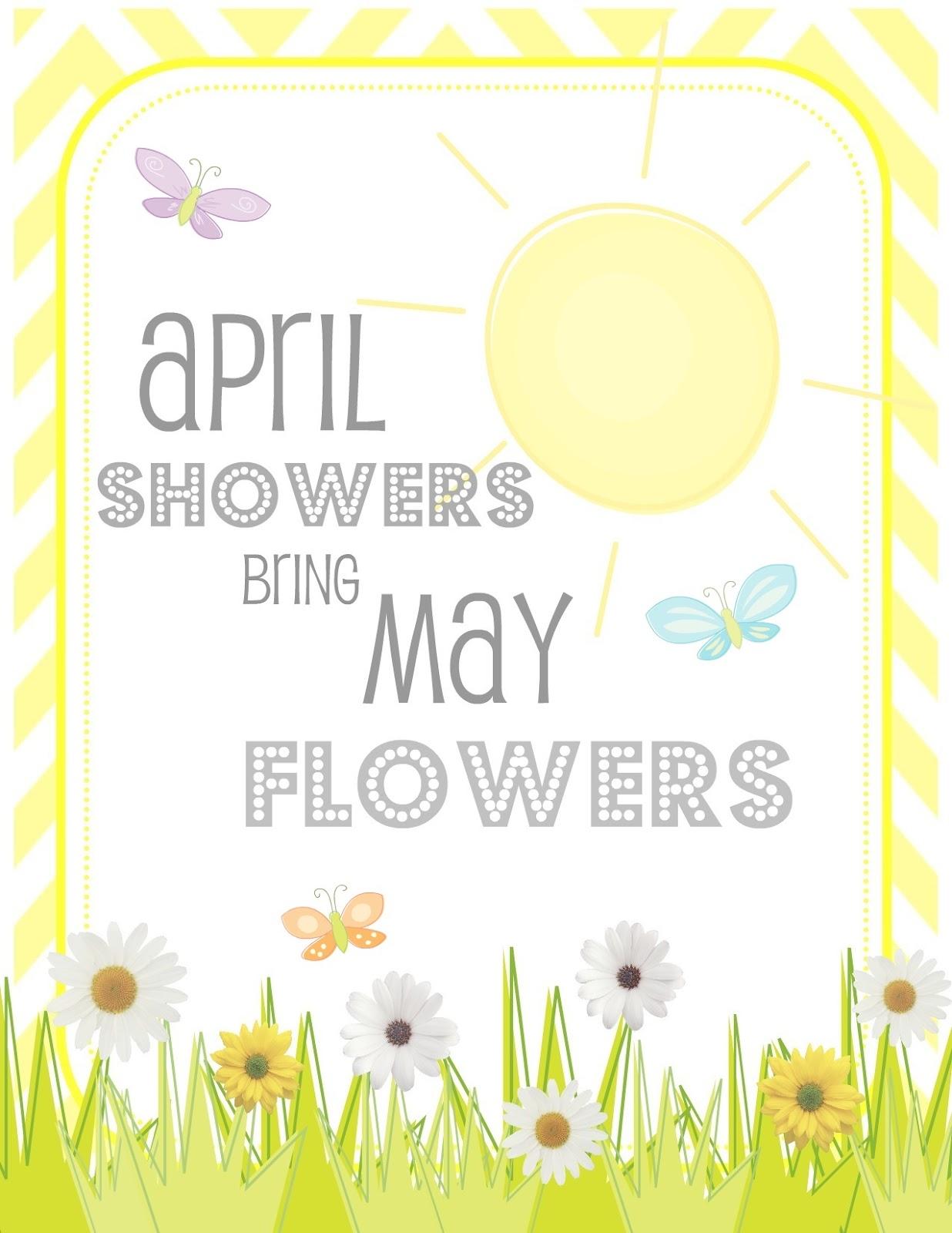 Creative Juice FREE PRINTABLES april showers bring may