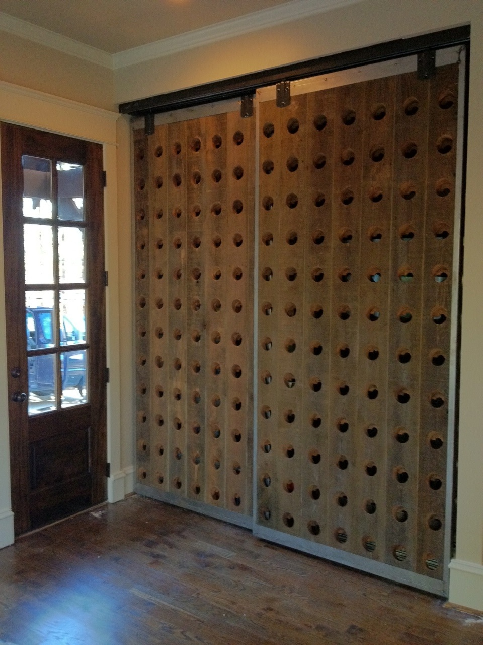 Riddling Wine Rack Door - If you can dream it up, we will make it for you
