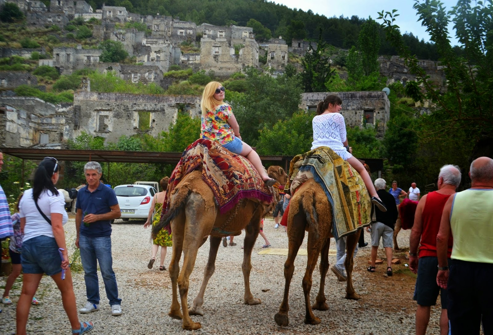 Myself and my sister riding Camels in Turkey.