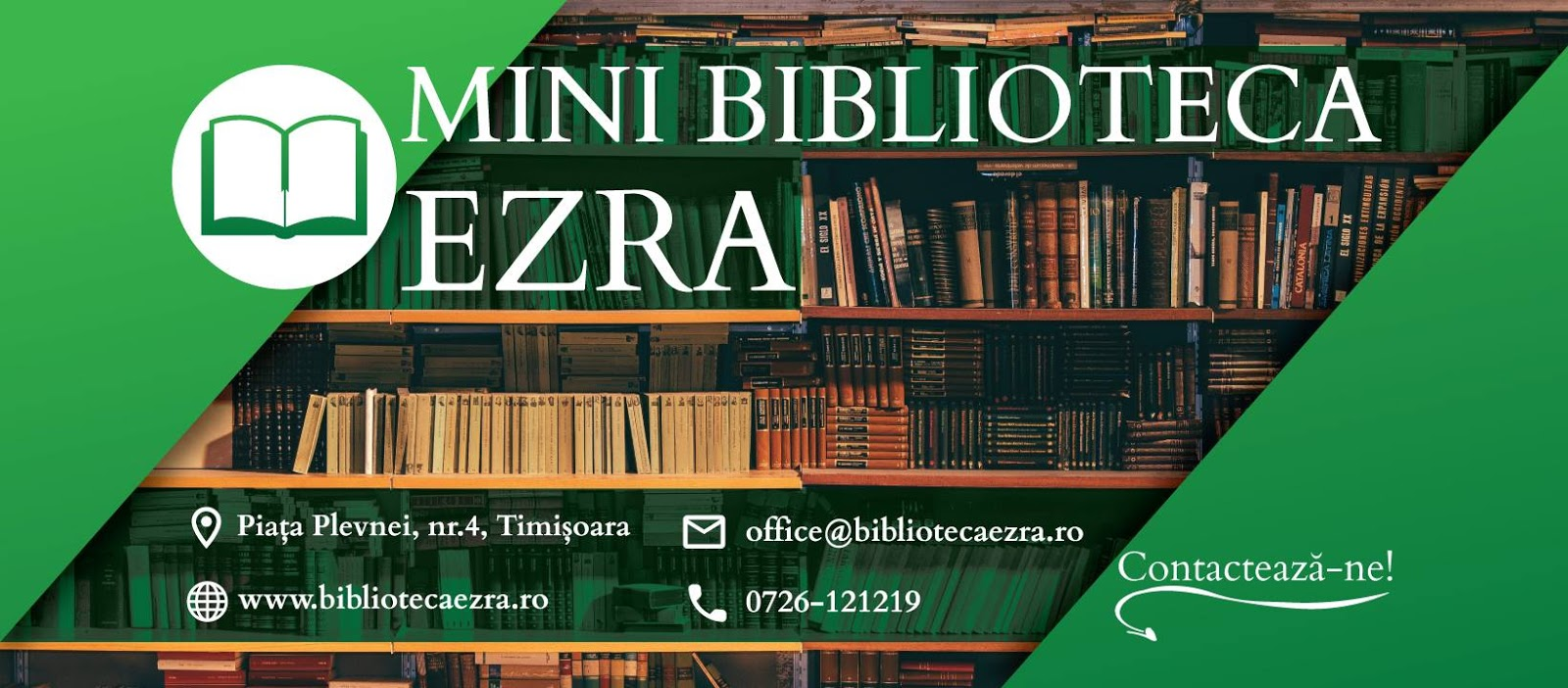 Mini biblioteca Ezra din Timisoara