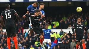 تشيلسي يسقط من امام فريق ايفرتون بثلاث اهداف لهدف في الجولة 16 من الدوري الانجليزي