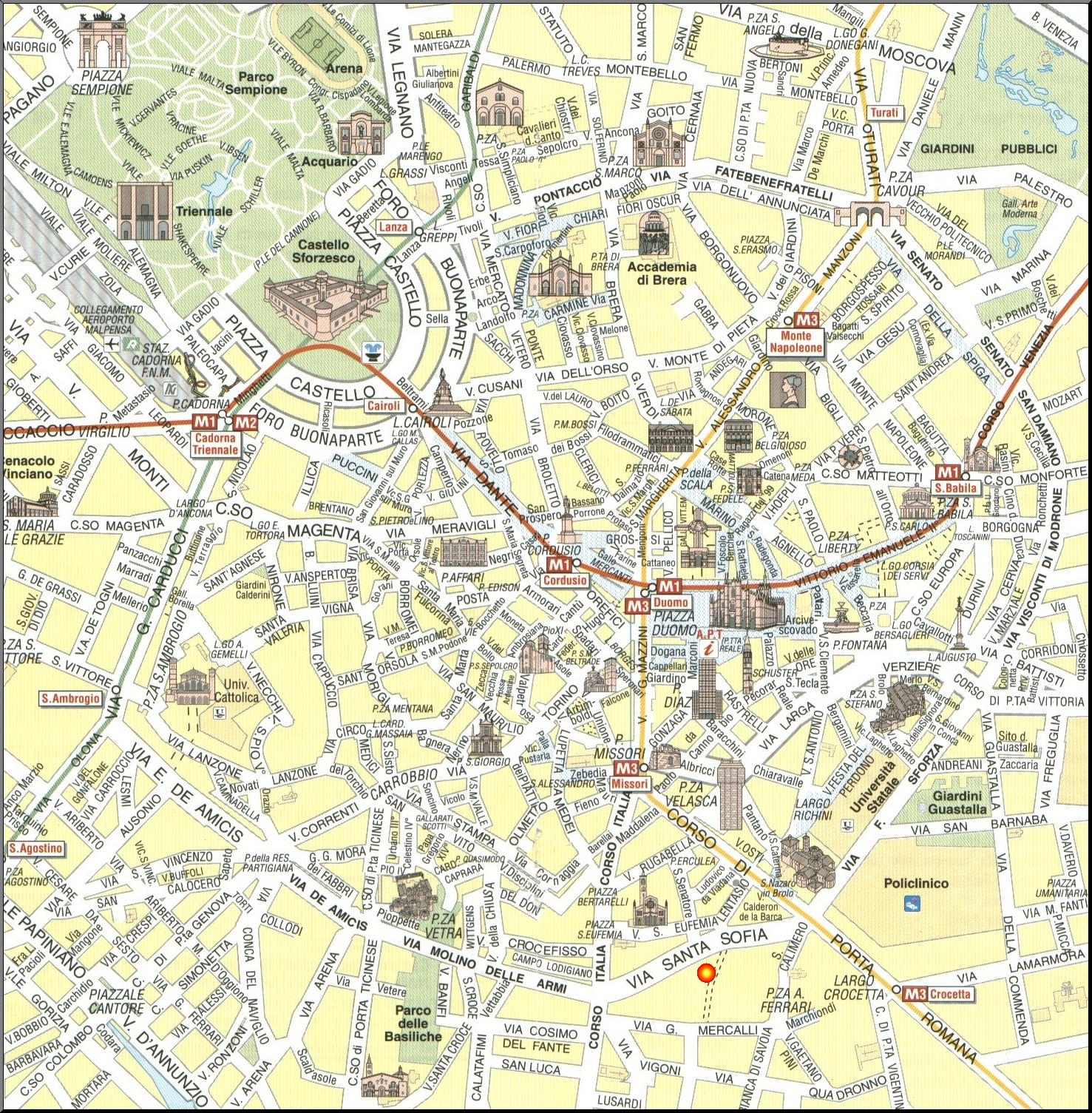 milão mapa Nicky´s Blog: Milão e Como em 4 dias milão mapa