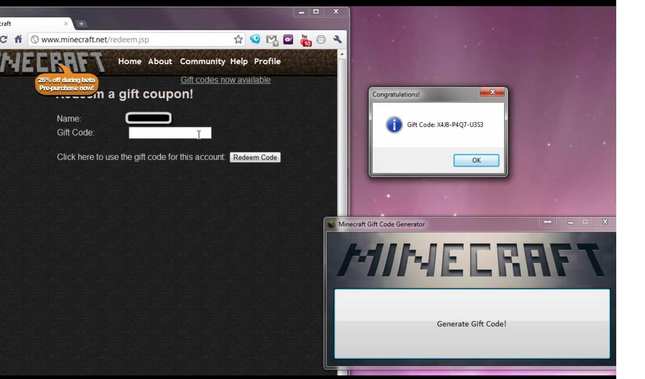How to Get a Free Minecraft Gift Code Generator + Download - How to