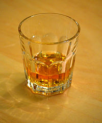 A glass of Scotch whisky