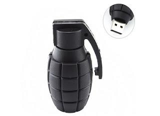 Flashdisk lucu dan unik bentuk granat tangan