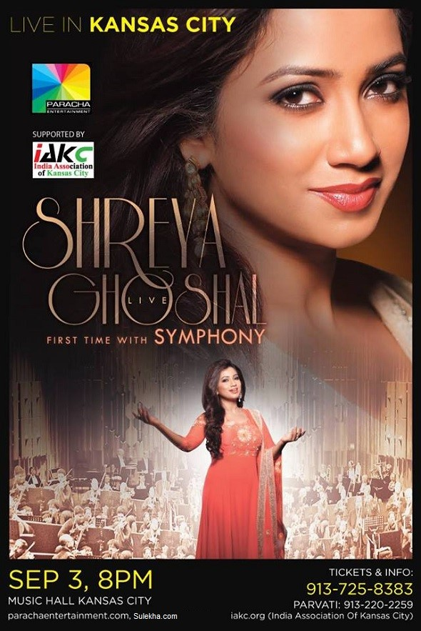 Shreya Ghoshal Live Concert in Kansas City
