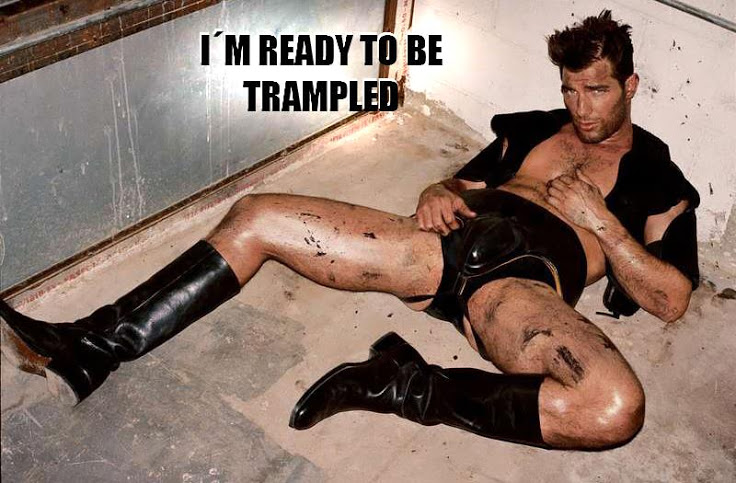 Trampling gay boot