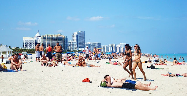 Protetor solar em Miami