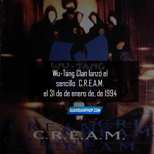 Un día como hoy: Wu Tang Clan lanzo su sencillo C.R.E.A.M. [31 enero 1994]
