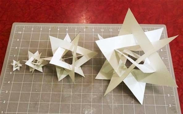 Simple 3d Paper Craft Art Crafts Ideas