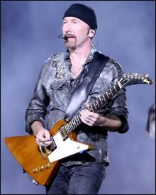 "Guitarra Gibson Explorer de ""The Edge"""