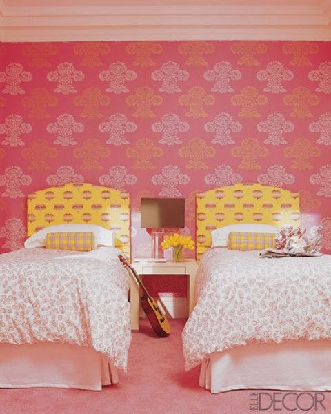 Eye For Design: Decorating With The Pink/Yellow Color Combination