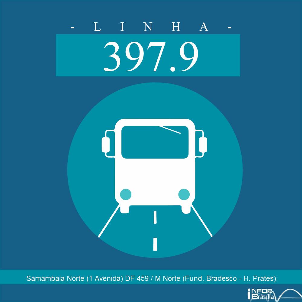 Horário de ônibus e itinerário 397.9 - Samambaia Norte (1 Avenida) DF 459 / M Norte (Fund. Bradesco - H. Prates)