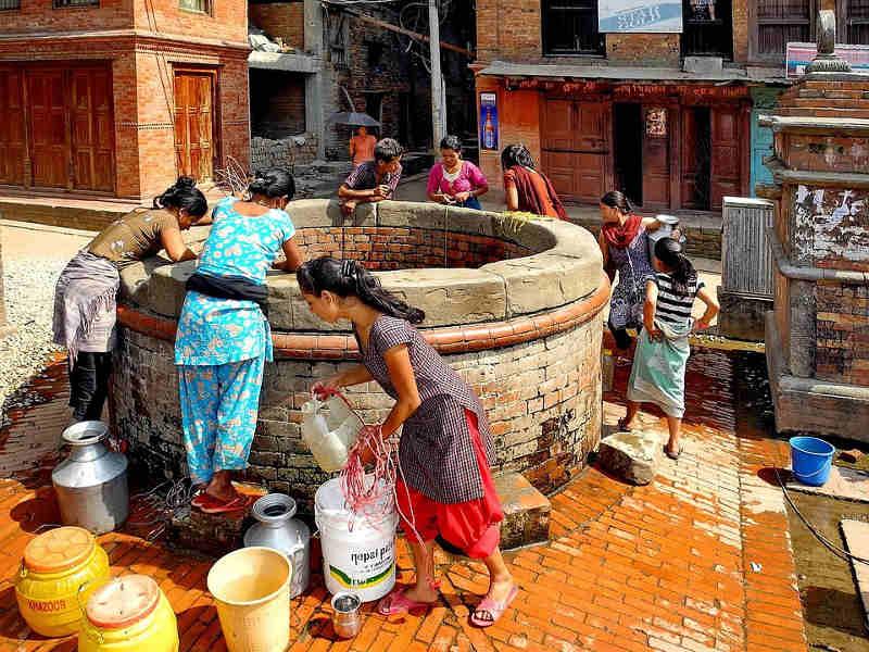 Puit au népal