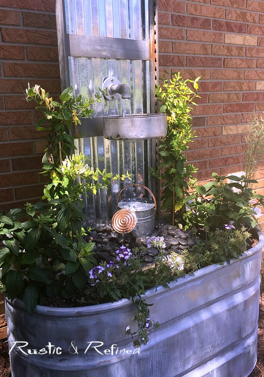 A Do It Yourself water feature or fountain that can be done in hours for any type of yard and budget.