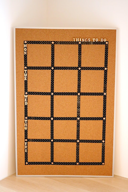 Step Five DIY Cork Board Craft Ideas - How to Turn a Cork Board into a Personalized Weekly To Do List For Your Office