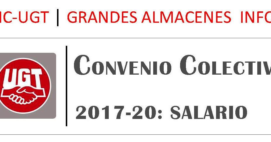 Secci n sindical ugt carrefour pe acastillo tablas for Fuera de convenio 2017