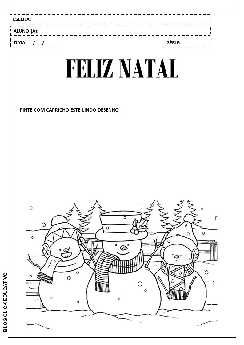 Atividades De Natal Para Educação Infantil Desenhos Para