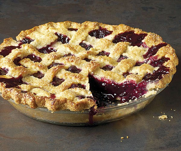 Lattace Topped Blueberry Pie Recipe